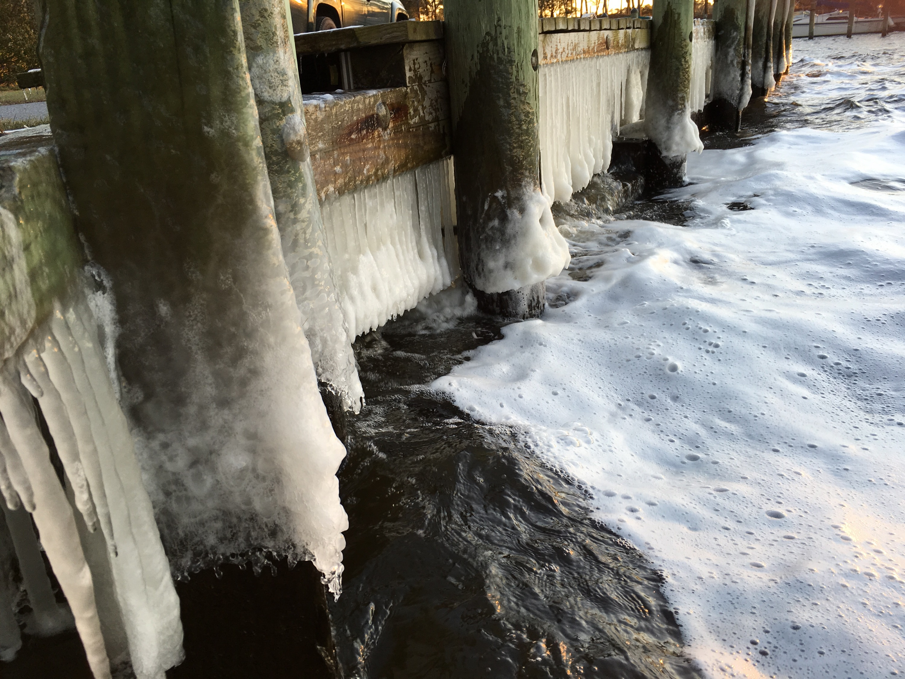 Ice In Southern Shores Marina